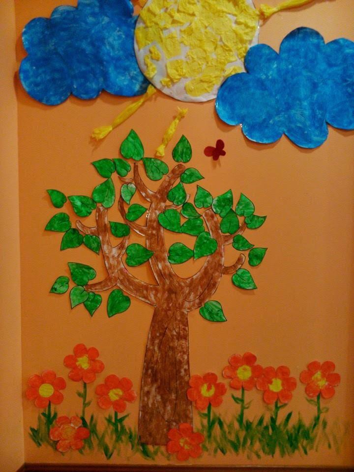Recursos para escuela infantil decoraci n primavera for Decoracion primavera infantil