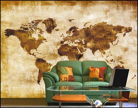 Map Of The World Wallpaper Mural