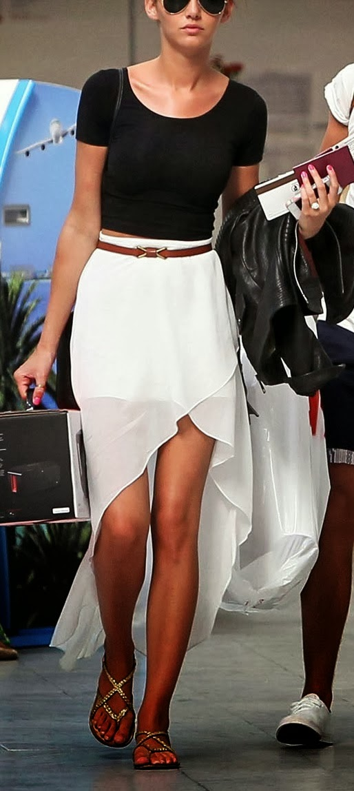 Fabulous white skirt and accessories