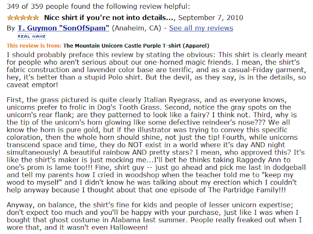 Funny Amazon Review by T. Guymon