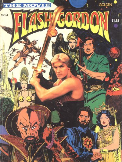 FLASH GORDON THE MOVIE TRADE PAPERBACK FROM GOLDEN PRESS!