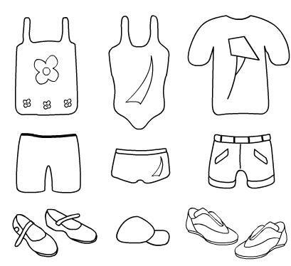 El rincon de la infancia: ♥ Dibujos de vestimenta para pintar ♥