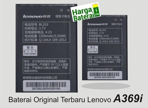 Harga Baterai Original Lenovo A369i Terbaru