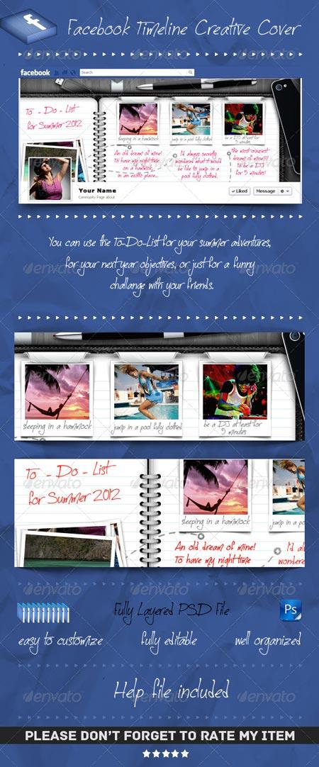 GraphicRiver Facebook Timeline Cover To Do List Agenda
