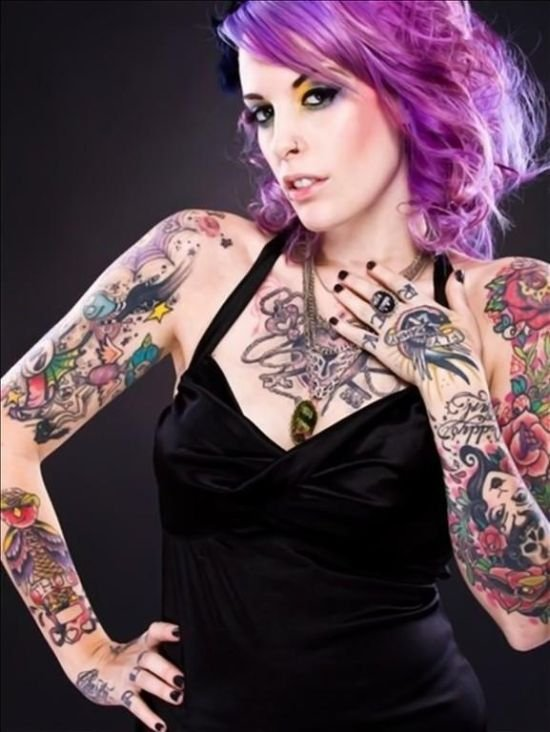 sexy tattooed girls. of all tattooed girls.