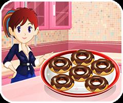 Bánh rán kiểu Mỹ, chơi game làm bánh online