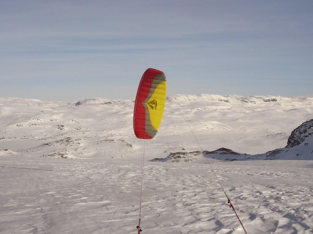 Ozone Access II 10m2 on Middalen Glacier, Norway.