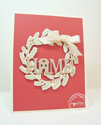 Home for the Holidays card-designed by Lori Tecler/Inking Aloud-stamps and dies from SugarPea Designs