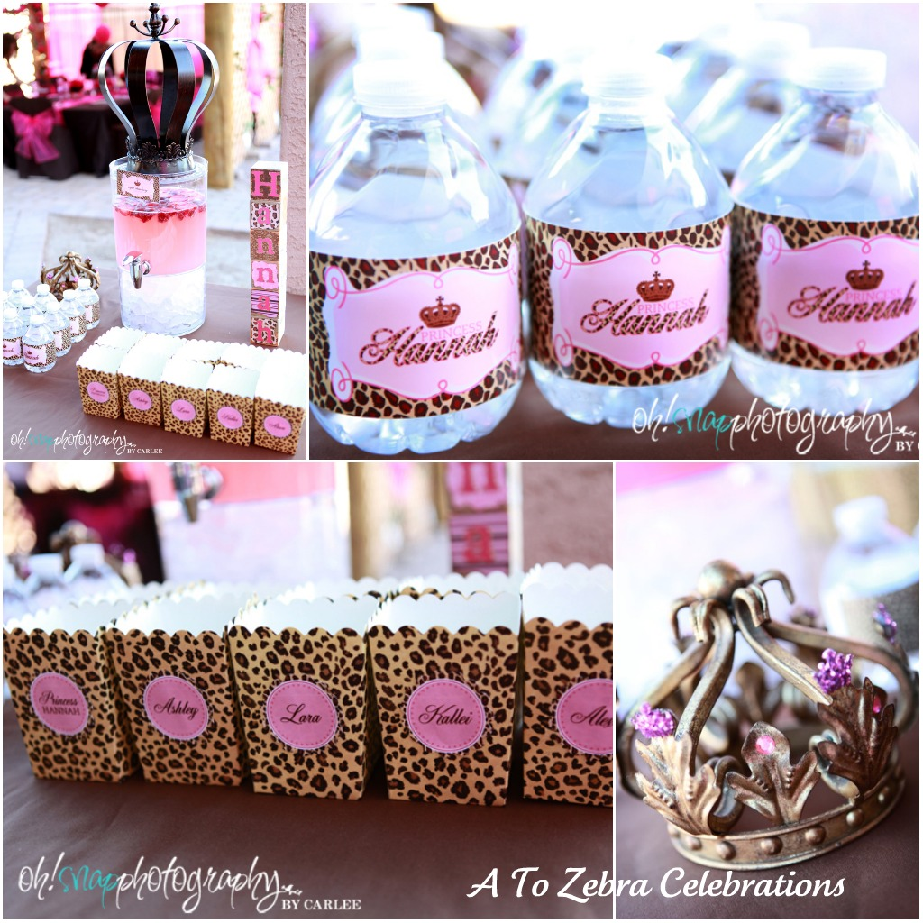 Leopard party zebra celebrations 1st birthday leopards for Animal print party decoration ideas