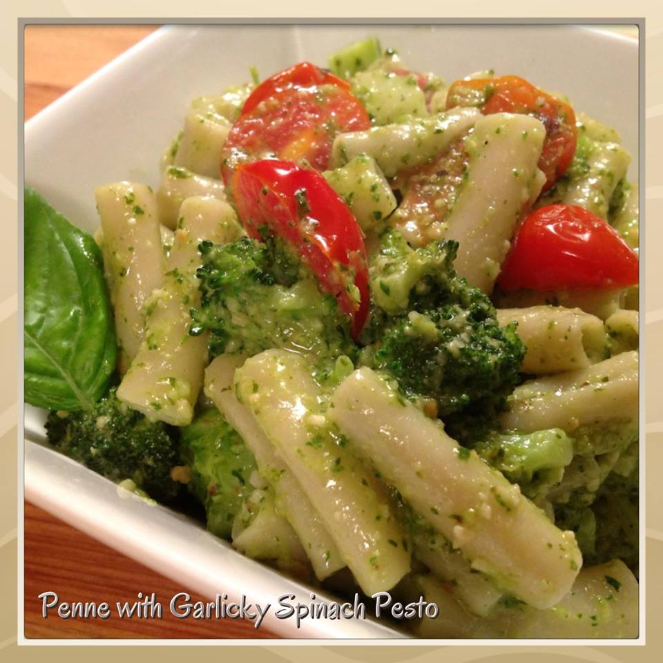 Penne With A Spinach-Ricotta Sauce Recipes — Dishmaps