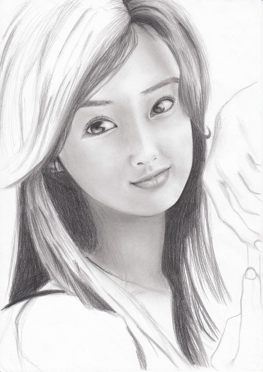 girls pencil sketches display pics awesome dp