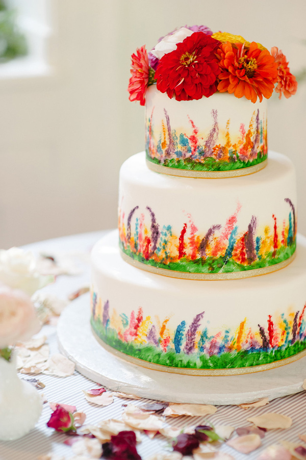 Hot chocolates blog stunning wedding cakes for Garden wedding cake designs