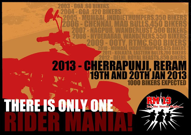 Royal Enfield Rider Mania 2013 To be held at Shillong Meghalaya India Registration for Royal Enfield Rider Mania 2013 open