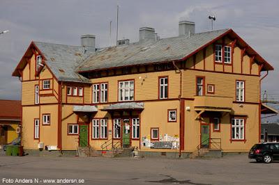 Älvsbyn station stationshus Järnvägsstation