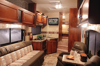 Vortex camping trailer interior photo.