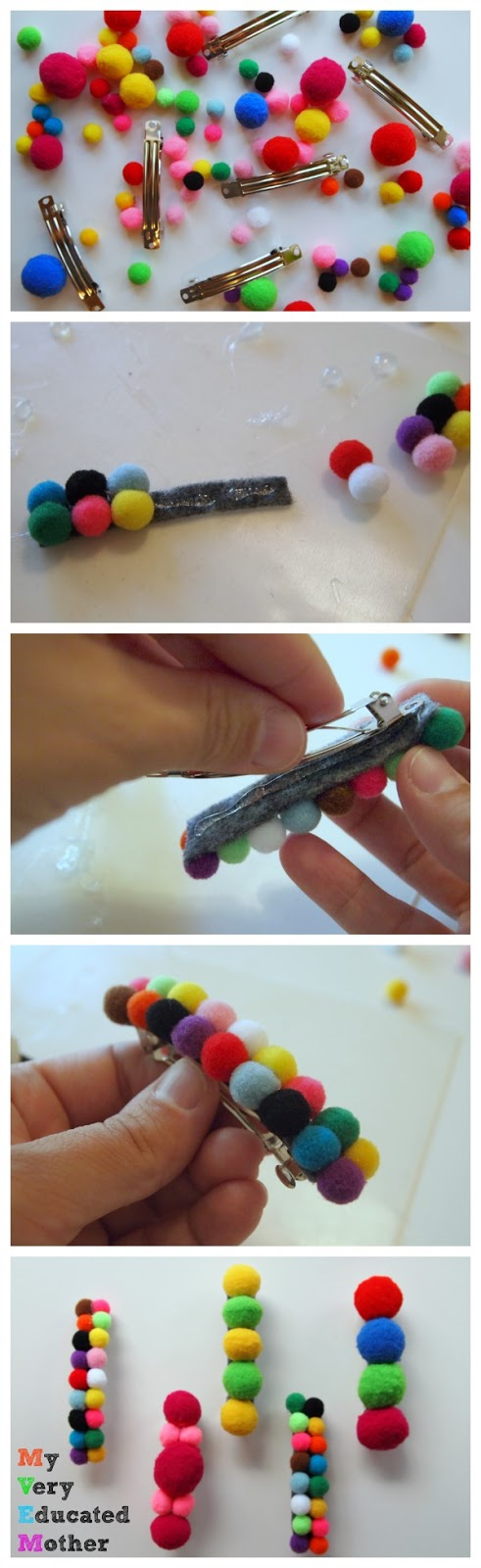 How To Make Pom Pom Barrettes