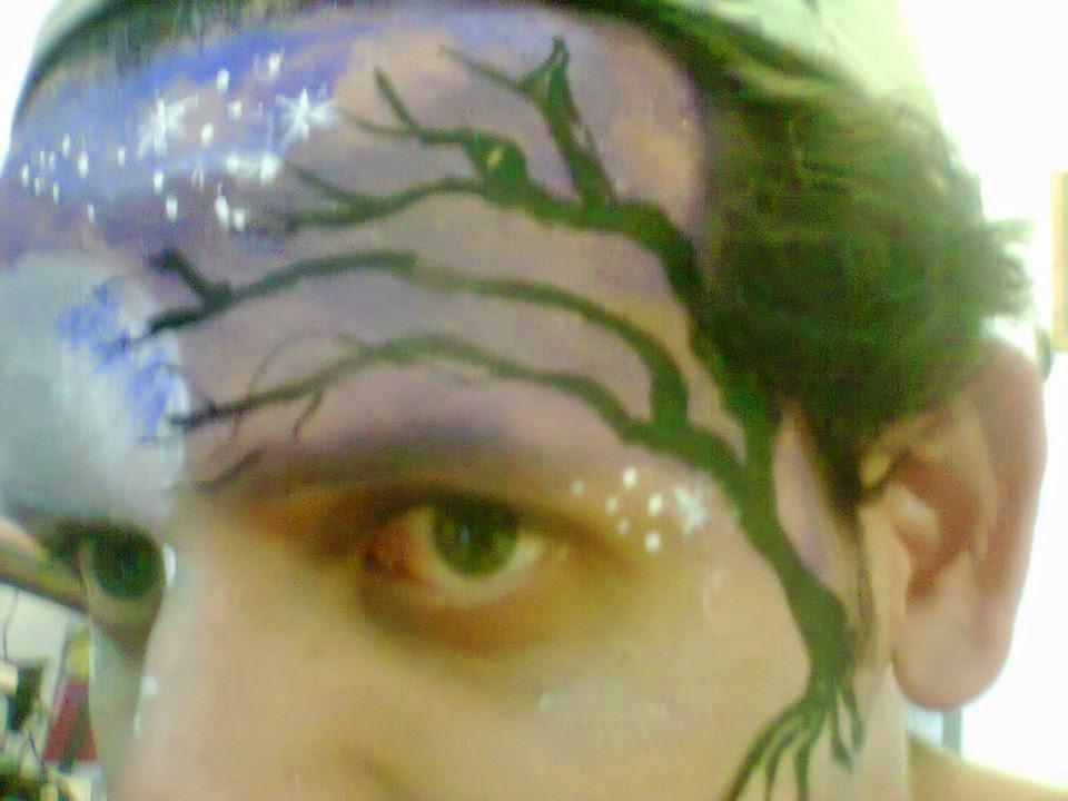 Pintura Facial Artística - Noite de Halloween.