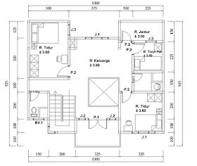 kumpulan desain rumah, berkebun: denah rumah 2 lantai