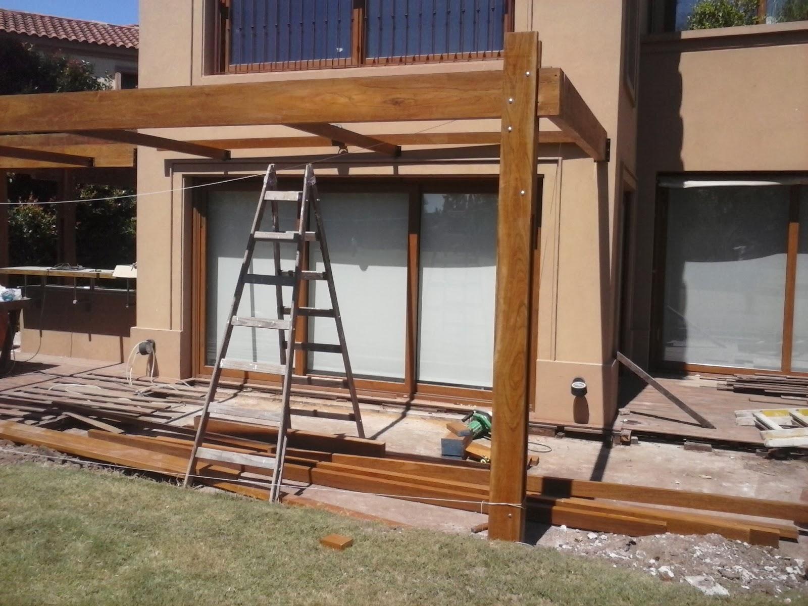 Mymdecks pergola de madera lapacho 45 m2 - Como hacer una pergola ...