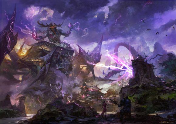 HongWen xaeroaaa deviantart ilustrações fantasia ficção científica Batalhas monstruosas
