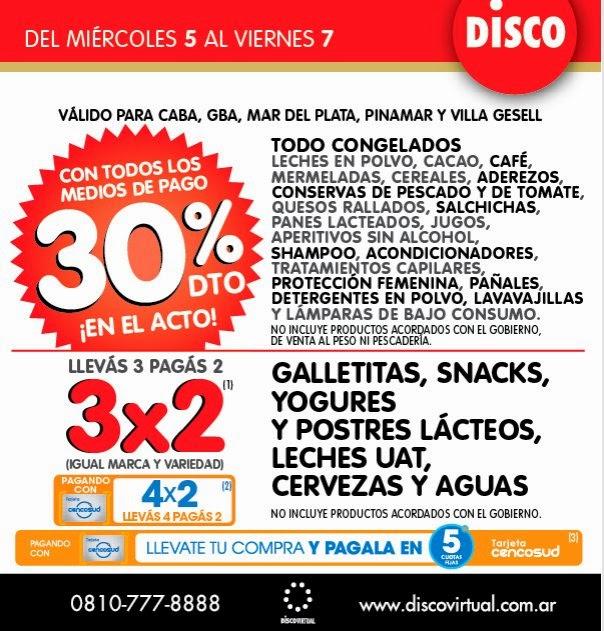 ofertas y promos en argentina promo disco miercoles a viernes. Black Bedroom Furniture Sets. Home Design Ideas