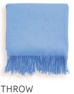 Kyoto cashmere throw in Periwinkle