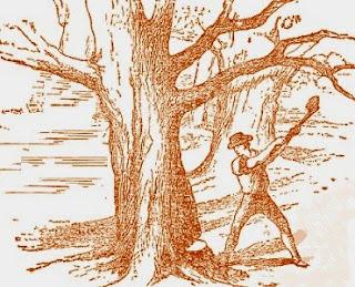 Il boscaiolo alla ricerca del manico d'ascia (Esopo)