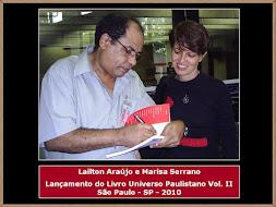 Lailton Araújo, Marisa Serranno e Lançamento de Livro