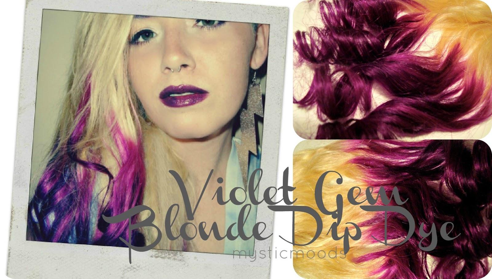 Mystic Moods Violet Gem Dip Dye Hair Extensions