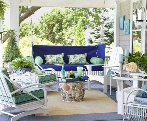 10 Coastal Beach Theme Outdoor Living Rooms Completely Coastal