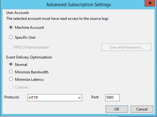 Advanced Subscription Settings
