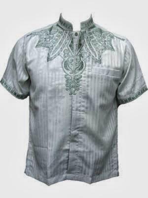Gambar desain baju koko pria keren, busana pria motif batik