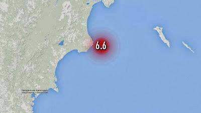 TERREMOTO DE 6,6 GRADOS SE REGISTRA EN LA PENINSULA RUSA DE KAMCHATKA, 12 DE NOVIEMBRE 2013
