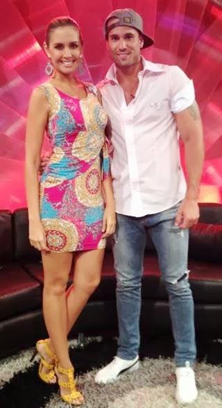 Gino Assereto con Jessica Tapia