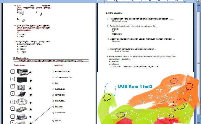 UUB Komputer  kelas 1 hal 2