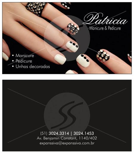 Cartões de Visita para Manicure