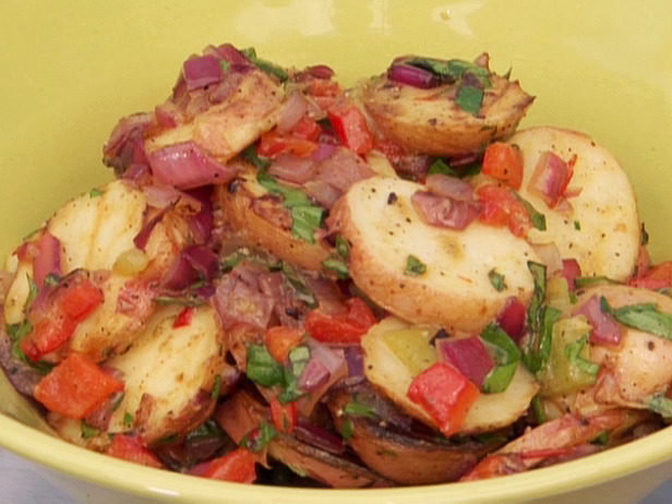 Grilled New Potato Salad with Peppers and Onions Recipe
