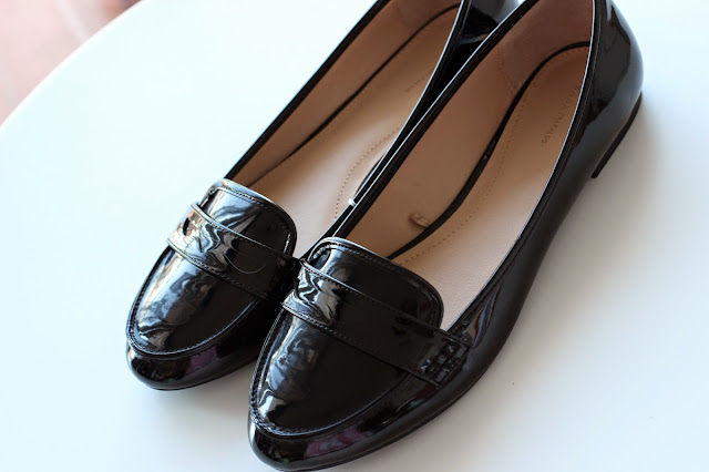 zara loafers charol