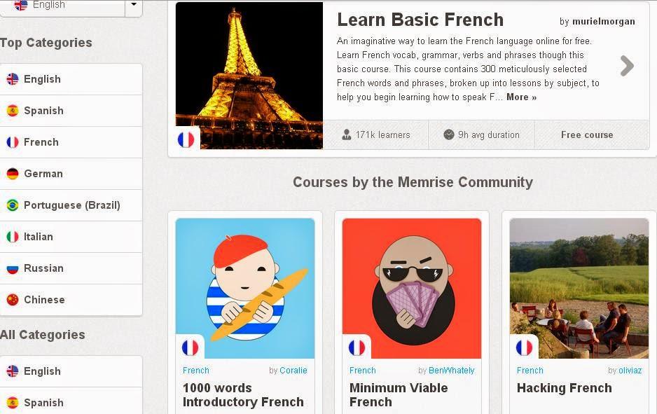 الحصول على كورسات اللغة الفرنسية