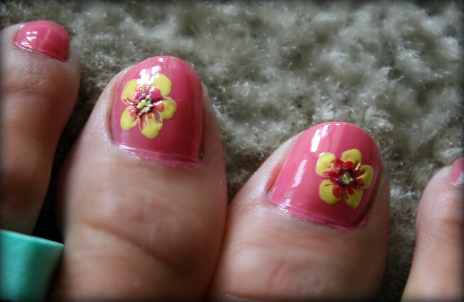 Toe nail art hibiscus hibiscus nails nail art gallery day black toe nail art hibiscus finally i used my small tipped nail art tool to create prinsesfo Choice Image
