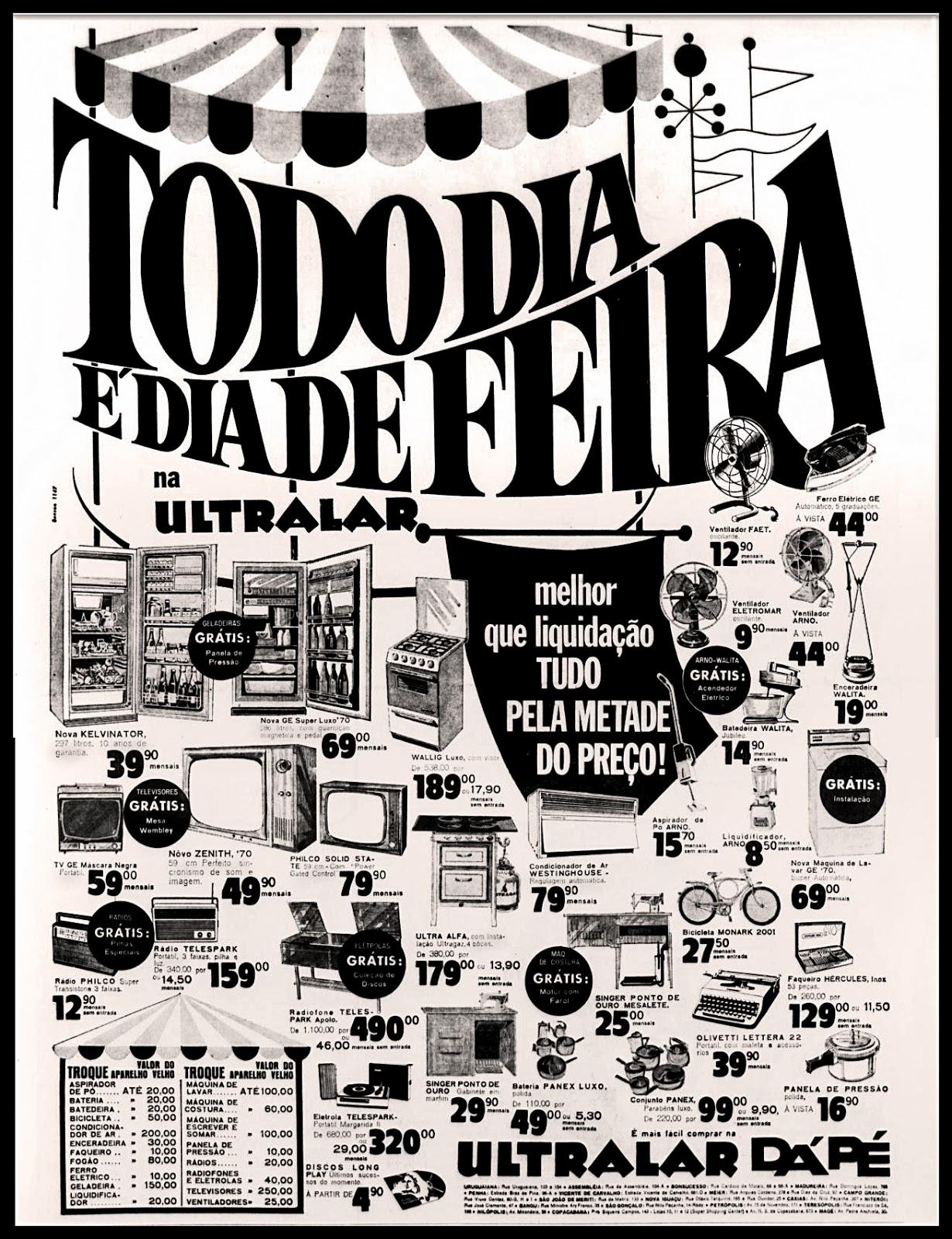 História dos anos 70; Propaganda na década de 70; Reclame anos 70