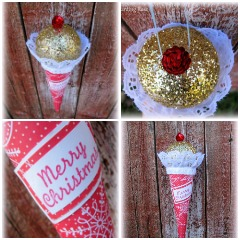 Ice Cream Cone Ornament