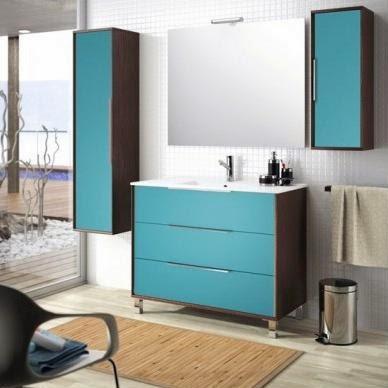 Colección colours, el baño en azul turquesa ~ reformas guaita