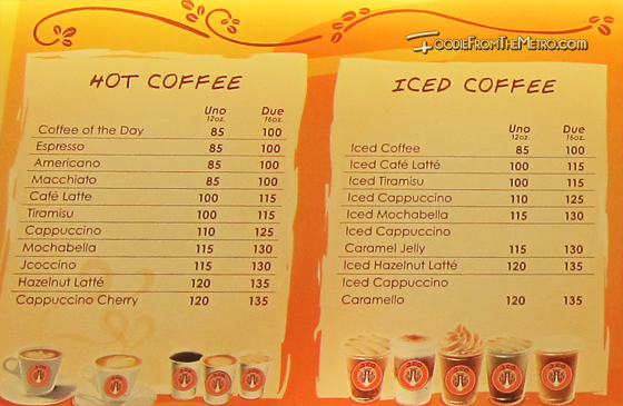 Coffee Menu - J.Co Donuts