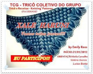Vamos tricotar o xale Haruni