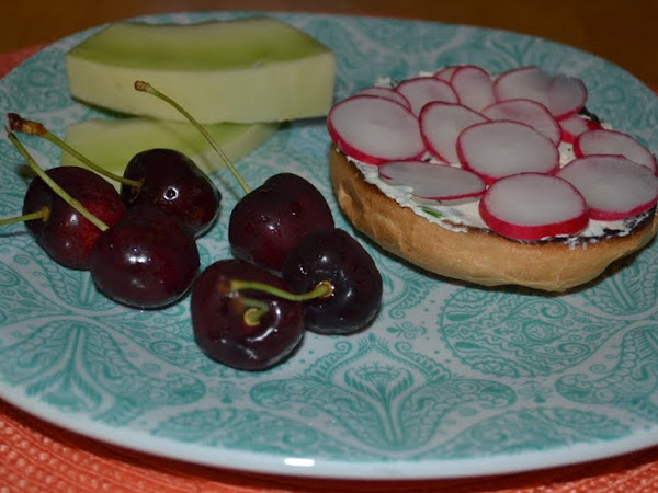 Quick Easy Healthy Bagel Spread and Radishes