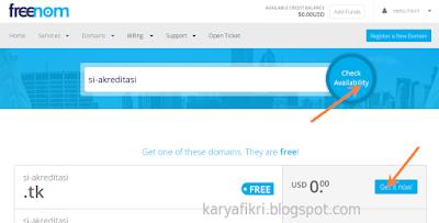 12 Tuliskan nama domain yang diinginkan (karyafikri.blogspot.com)