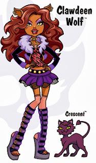 Monster High, Imagenes de Clawdeen Wolf para Imprimir, parte 1