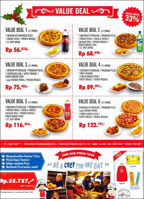 Harga Menu Domino Pizza Indonesia Delivery Terbaru 2017