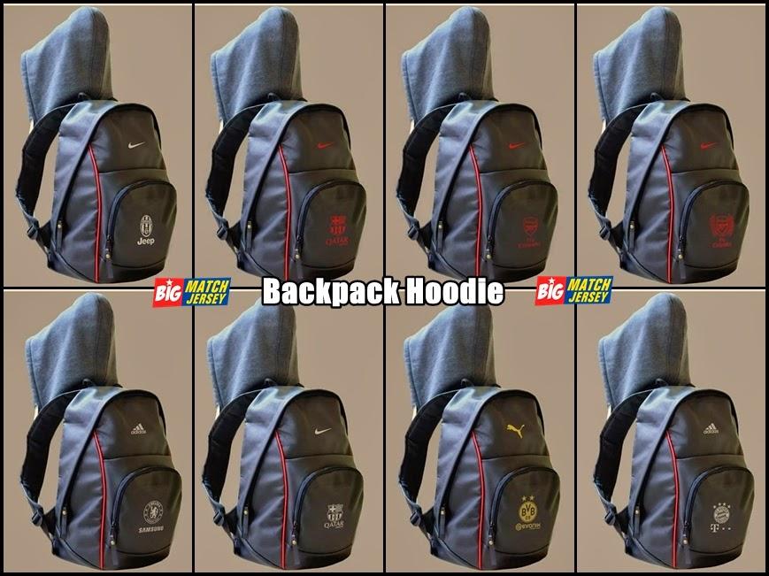 Tas Backpack Hoodie Bahan Kulit